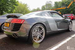 Audi R8 | R8 FUU (Jgalea14) Tags: blue black car canon silver grey automobile outdoor sunday gray may engine lancashire vehicle preston motor phantom audi meet supercar v10 22nd gunmetal r8 winger fuu fulwood 100d pscm df65 r8fuu