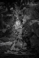 Yvoire - #18 (cedric.chiodini) Tags: nb noiretblanc bw blackandwhite masque costume carnavalyvoire yvoire canon5dmkiii canon flash cobra strobe strobisme