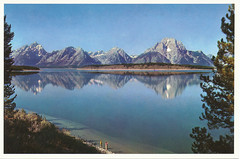 postcard of Jackson Lake, Grand Teton NP, Wyoming USA (johnjennings995) Tags: usa postcard wyoming grandteton jacksonlake