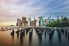 New York Color (Tiffany Lynn Photography.net) Tags: longexposure sunset newyork water landscape cityscape