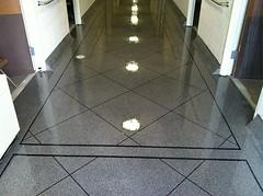 Epoxy Tile - Border (Decorative Concrete Kingdom) Tags: tile border flake hallway epoxy chip