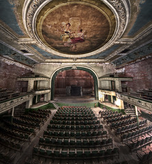 The Haunting New Bedford Orphuem (Frank C. Grace (Trig Photography)) Tags: abandoned architecture dark painting ma mural theater theatre pentax decay balcony empty massachusetts performingarts newengland ceiling architectural creepy architect urbanexploration seats restoration seating waterstreet fresco hdr orpheum vaudeville k5 helpers urbex beauxarts newbedford photomatix tonemapped orph vertorama trigphotography frankcgrace louisdestremps frenchsharpshooters wwworphincorg leclubdesfrancstireurs
