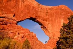 Couple in North Windows Arch (tgiacb717) Tags: park people usa southwest nature outdoors utah nationalpark ut aperture rocks scenic arches erosion canyonlandsnationalpark moabut canyonlands moab archesnationalpark moabutah windowarch northwindowarch apertureacademy tgiacb717