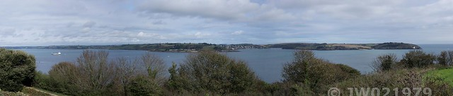 View to St Mawes Castle from Pendennis Castle, Falmouth