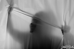 Scream behind the curtain (Jussi Rajala) Tags: canon shower ranger curtain ii mk2 5d 85 ef rx shead elinchrom 12l