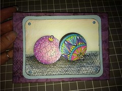 Ornament Duo card (Paint Chip) Tags: paperart cards crafts greetingcards handmadecards zentangle zendoodle lineweaving