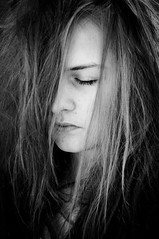 (matabum) Tags: portrait blackandwhite bw woman eye girl lady hair czech style naturallight calm sleepy reflector