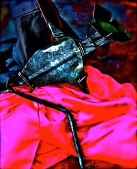 "mixed media, hammered aluminum, welded wire: ""capote de brega""*set, one of several, dec. 2011 (THE ART OF STEFAN KRIKL) Tags: abstract modernart veronica toros bullfight metalsculptures tauromaquia expressionistart quites artetaurino"
