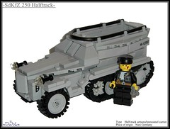 Lego ww2 -SdKfZ 250 Halftrack- (=DoNe=) Tags: world by self viktor gun lego wwii review made vehicles german figure ww2 vehicle artillery piece custom done halftrack brickmania homemdae legoww2sdkfz250halftrack propeld