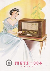 METZ Radio Dealer Sheet Model 304 Export (W-Germany 1952)_1 (MarkAmsterdam) Tags: old sign metal radio vintage advertising design early tv portable colorful fifties mark ad tube battery engineering pickup retro advertisement collection plastic equipment electronics era handheld sheet booklet collectible portfolio eames electrical atomic brochure console folder forties sixties transistor phonograph dealer carradio fashioned transistorradio tuberadio pocketradio 50s 60s tableradio plaskon 40s kitchenradio meijster markmeijster markamsterdam coatradio tovertoom