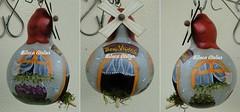 casinha cinza (BILUCA ATELIER) Tags: gourds bees ladybugs cabaas pinturacountry porongos homebirds biluca casinhasdepassarinho