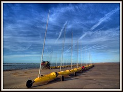 Beach Buggies (Paul @ Doverpast.co.uk) Tags: sea sky france beach clouds de french coast seaside sand skies dunes coastal le pas hdr channel buggies calais manche francais touquet parisbythesea