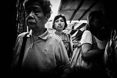 closer (liver1223) Tags: street city 2 people blackandwhite bw woman photo interestingness interesting shot snap front hong kong explore page gr wan ricoh chai grd explored blackwhitephotos