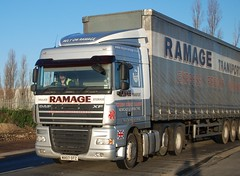 MX07 OTZ Ramage Transport DAF XF, Kemsley Paper Mill, Sittingbourne