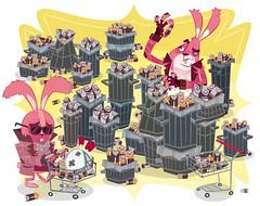 Ecological Batteries (Mista Bob) Tags: bunnies pixel batteries vector ecological mrbob