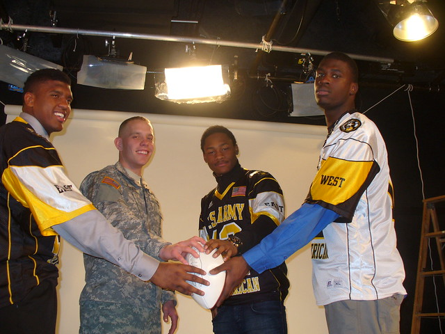 Soldier of the Year and Army All-Americans during photo shoot with Sports Illustrated