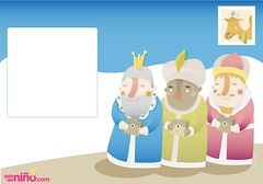 Postal Reyes Magos (Ana Rois Ortiz) Tags: christmas cute illustration navidad kid child niño vector reyesmagos