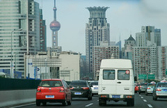Shanghai (Marco La Rosa) Tags: auto china city tower car highway torre shanghai grattacielo tvtower cina shangai citt autostrada macchine skycreeper torredellatelevisione larosamarco marcolarosa