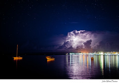 Australia (john white photos) Tags: sea storm clouds bay boat lightning southaustralia portlincoln eyrepeninsula