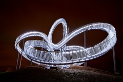 Tiger & Turtle – Magic Mountain (generalstussner) Tags: night canon eos lights long exposure angle wide duisburg 1735mm 5dmarkii tigerturtle–magicmountain
