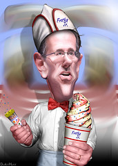 Rick Santorum, Soda Jerk - Caricature