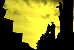 Albert Memorial (pallab seth) Tags: uk sunset sky colour london silhouette nikon kitlens albertmemorial allegoricalsculpture nikon1855mmf3556gafsdxvr d3100 barmybritishempire ethnographicfigures