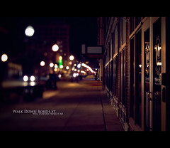 Day 356 - Walk Down Bokeh Street (Will (Certified Ninja)) Tags: street car streetlight bokeh headlights sidewalk tse evansville lightroom tiltshift project365 canontse45mmf28 canon7d bokehstreet
