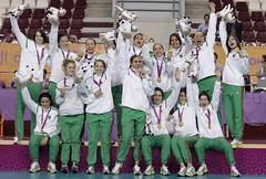 les championnes de Hand Féminin Arab a Doha