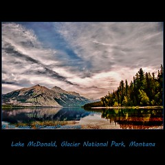 Lake McDonald, Glacier National Park (tim, TimCooperPhotos.com) Tags: blue lake mountains clouds landscape nationalpark montana flickr northamerica hdr glaciernp lucis timcooper bestalltime