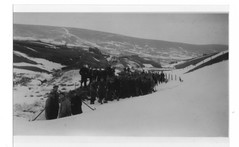 Clearing the snow on Elvanfoot Road, Leadhills,1947 (Lowther Hills) Tags: road winter snow golf scotland course hills southern uplands elvanfoot wanlockhead lowther leadhills b7040