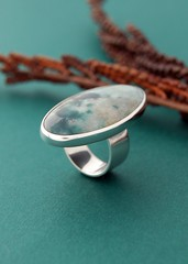 RAW 52 - Ocean Ring (Lucie Veilleux jewelry) Tags: ocean set raw ring anchor sleek oval polished bezel raw52 ringaweek