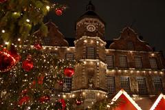 weihnachtsmarkt im Altstadt (Hillyne2000) Tags: christmas light red holiday tree night germany season lights colours nightshot weihnachtsmarkt christmastree dusseldorf altstadt flickrstruereflection1