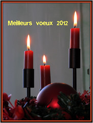 joie ,bonheur ,santé ,amitié ,amour pour 2012 (LILI 296...) Tags: rouge lumière newyear chandelier fête flamme 2012 bougie nouvelan voeux canonpowershotg12