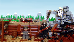 War is Hell (Eturior) Tags: lego contest perspective scene trench ww1 forced prototypes germans warfare brickarms eturior