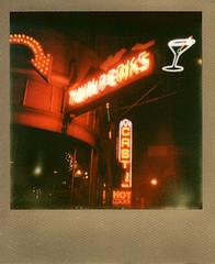 Nightcap at Twin Peaks (DannySanchezToyPhotography) Tags: sanfrancisco nightphotography polaroid castro embarcadero impossibleprojectinstantfilm dannysancheztoyphotography px680goldframe 680secamera dollebritiescom