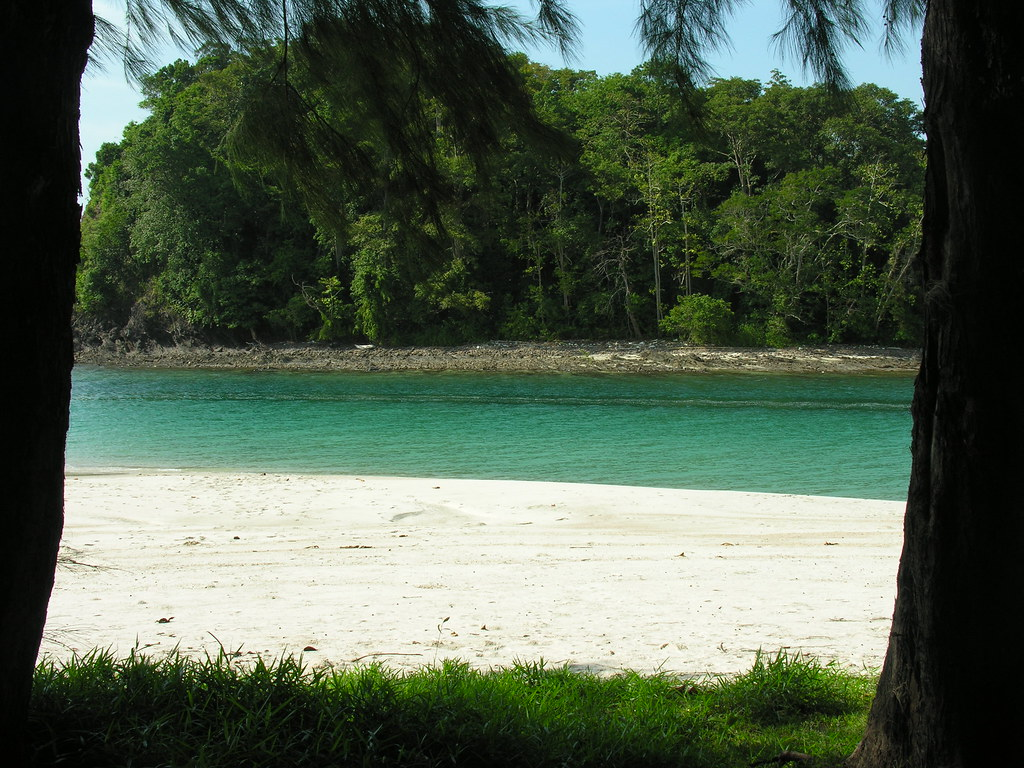 Beach and river, Ko Tarutao, Satun, Thailand