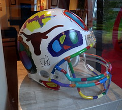 Texas Longhorns college football helmet, painted by Peter Max () Tags: xmas vacation holiday max college design dallas football paint downtown artist gallery texas tx helmet horns cage dallasfortworth uptown longhorns painter windowview dfw happyholidays merrychristmas rtw footballgame vacanze footballplayers happynewyear roundtheworld hny weekendgetaway collegefootball globetrotter texaslonghorns petermax downtowndallas footballhelmet lomac crescentcourt luxuryhotel worldtraveler paintedhelmet rosewoodcrescent rosewoodcrescenthotel rosewoodcrescenthoteldallas dallas2011 rosewoodcrescentdallas