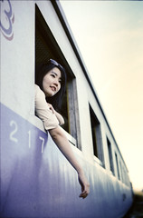 * (Sakulchai Sikitikul) Tags: portrait film train 35mm evening kodak voigtlander bessa 12 nokton r2a