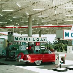 Anaheim Mobilgas (Anaheim Historical Society) Tags: california station vintage disneyland pegasus mobil gas 1956 gasoline anaheim juliusshulman