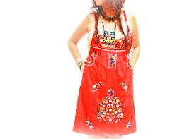 Fridita embroidered red mini tunic (Aida Coronado Galeria) Tags: travel wedding woman art love colors girl fashion vintage mexico clothing colorful handmade turquoise traditional moda artesanal frida clothes mexican dresses oaxaca chic etsy boho ethnic gypsy embroidered bohemian maxi whimsical huichol bordado vintageclothing etnico bohochic mexicandress handembroidered mexicoart mexicanwedding mexicantextiles mexicanclothes artfrommexico aidacoronado aidacoronadocom mexicanmaxidress boh