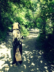 Which Path? (c|oud|ess) Tags: park trees light sunlight green london university path hijab application