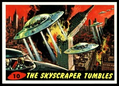"Mars Attacks #10 ""The Skyscraper Tumbles"" (cigcardpix) Tags: tradecards advertising ephemera reprint graphic sciencefiction horror fantasy vintage mars attacks gumcards comic"