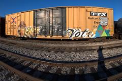 5  AERA  VOTE  RP (TRUE 2 DEATH) Tags: railroad autostitch panorama train graffiti 5 five pano tag graf trains panoramic railcar koi spraypaint boxcar vote msg railways rp stitched railfan freight myshadow wg freighttrain aera autostitched rollingstock autopano  stitchedpanorama autopanopro benching freighttraingraffiti