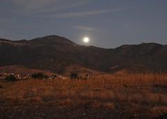 Rising Moon Oaxaca Mexico (Ilhuicamina) Tags: sky moon mountains mexico luna moonrise oaxaca fields picnik teotitlan