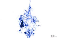 Blue smoke (EV-Photography) Tags: blue smoke inverted strobist sb700
