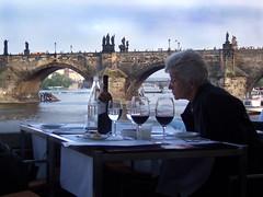 102_2645 Dinner before the Charles Bridge,Prague - Seen On Explore 2012-01-15 # 318 (jaro-es) Tags: canon prague streetportrait praga explore eos450 ringexcellence dblringexcellence tplringexcellence eltringexcellence