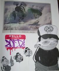 ZOER (Visual Chaos) Tags: monkey sticker surf newportbeach wedge hellomynameis woostercollective blackbook stussy zoer scicrew overachievers zoerscicrew