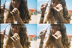 (Juliana Colli) Tags: ocean girls sea summer brazil praia beach colors brasil photography lomography toycamera diana fujifilm verão actionsampler es doubleexposition espiritosanto superexposição lomografia experimentação sobreposição vitora fotoanalogica sobreposition lomobrasil dianafmini juuzdesign julianacolli
