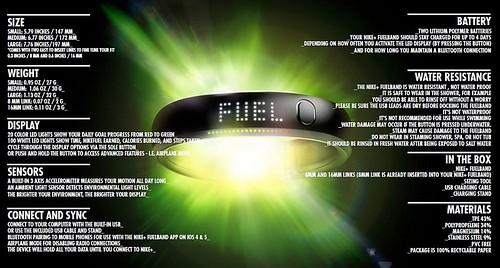 Nike FuelBand Tech Sheet