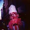 Zombie Walk (125) - 23Oct11, Paris (France) (°]°) Tags: zombiewalk zombie walk marche makeup maquillage livingdead mortvivant dead death mort parade blood sang gore fear horror peur horreur panic panique scary spooky effrayant terror terreur paris portrait holga lomography film analogue argentique pellicule 120 square carré vignettage vignetting blur blurry flou scan 6x6 kodakektar100 kodak ektar 100 ektachrome ekta négatif red rouge pink rose bulb man homme brain cerveau cervelle cook chef cuisinier cuistot